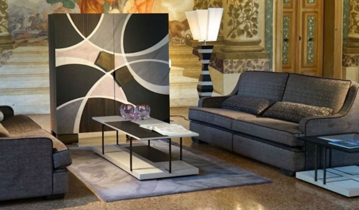 Italian luxury furniture, the Cadore intarsia