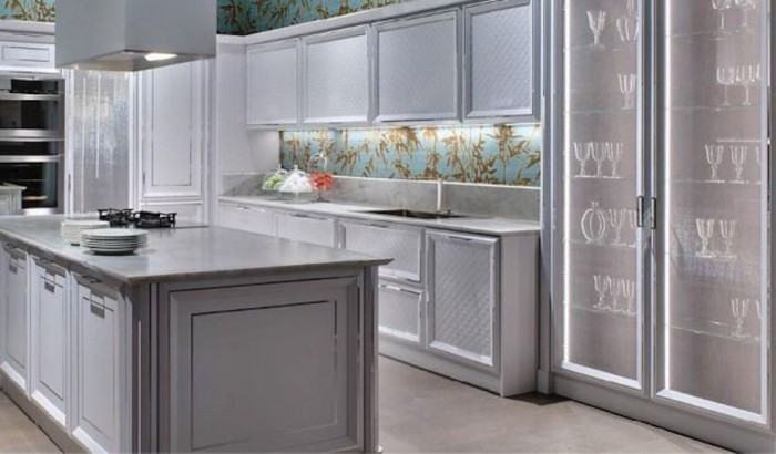 Murano luxury kitchen: floating in the air with timeless charm